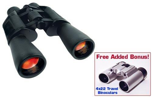 20X50 High-Powered Binoculars With Bonus 4X22 Travel Binocul