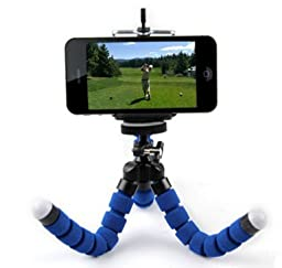 Flexible Mini Tripod for iPhone, Samsung Galaxy - Universal Smartphone Stand And Holder - Video Record Your Golf Swing, Take Selfies or Time Lapse Photos With Ease.