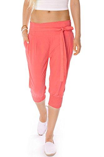 Bestyledberlin Pantaloni donna, pantaloncini chino da donna in tessuto j08kw L/XL corallo