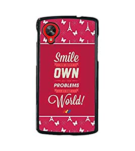 Fuson 2D Printed Quotes Designer back case cover for LG Google Nexus 5 - D4276