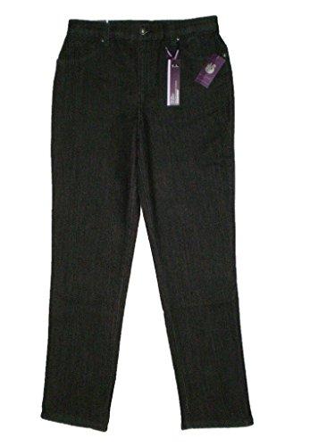 Gloria Vanderbilt Amanda Mid Rise Stretch Black Denim Jeans Size 8 X 31 New
