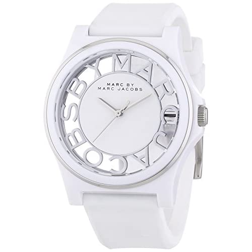 Marc by Marc Jacobs[マークバイマークジェイコブス] MODEL NO.mbm4015 ヘンリー スケルトン HENRY SKELTON ホワイト シリコンバンド ウォッチ 腕時計[並行輸入品]