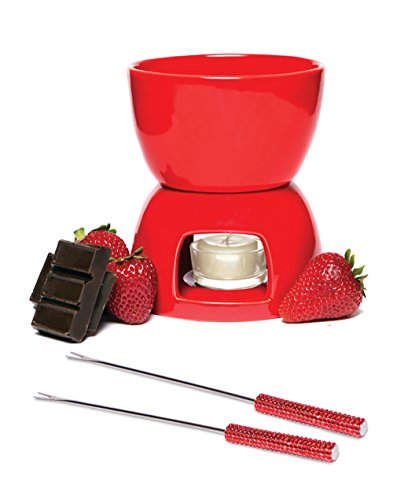 Wild Eye Fondue Set, Red
