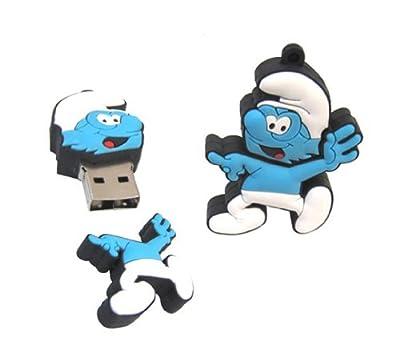 Smurf Jokey Comic Cartoon 16GB Flash Memory Stick Pen Drive USB keychain by Shenzhen