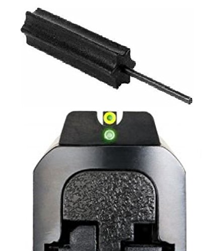 Ameriglo Sw-501 Pro I-Dot All M&P Models (Except Shield), I-Dot 2 Dot Night Sight Set Green Proglo Front W Orange Outline, Green Rear, Round Notch Rear + Ultimate Arms Gear Pro Disassembly 3/32 Pin Punch Armorers Gunsmith Tool
