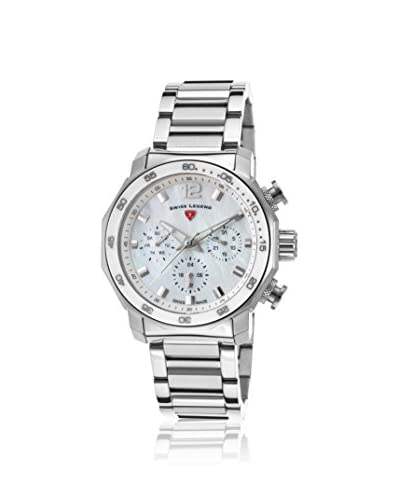 Swiss Legend Women's SL-16188SM-22 Blu Geneve Mother of Pearl Stainless Steel Watch