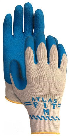 Showa Best Atlas Fit 300 Large Gloves Grey Knit