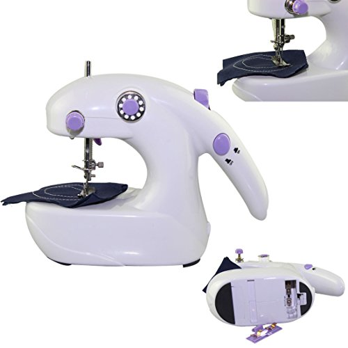 Voberry® Newest Hot Sale New Light Weight Mini Electric Home Travel Sewing Machine Handheld & Desktop Stitch Tool