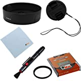GTMax 52mm HB-33 Lens Hood + Lens Cap with Strap + UV filter + Lens Pen + Cleaning Cloth for Nikon D5200 D3200 ,D800 D3100, D3000, D5000, D5100, D60 with Nikkor 18-55mm Lens