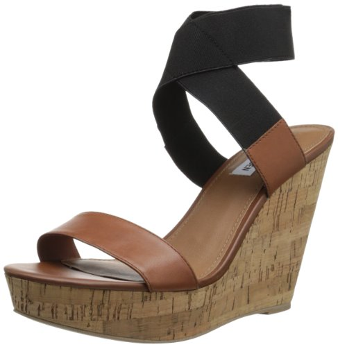 Steve Madden Women'S Roperr Wedge Sandal,Cognac Multi,6 M Us front-1021900