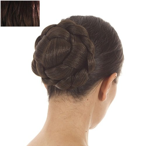 Dark Brown Lattice Effect Clip In Hair Bun | Clip on Glamorous Hairpiece | Available in 4 Colours (Clip On Hair Bun compare prices)