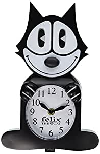 Felix the Cat Pendulum Black Hanging Wall Clock Licensed