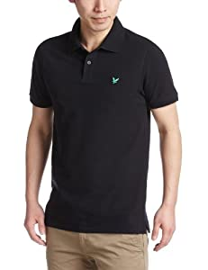 Lyle and Scott Green Eagle Men's Short Sleeve Polo - Black, Small