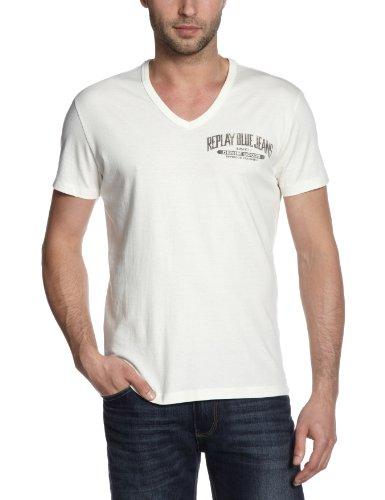 Replay M3192 Printed Men's T-Shirt Wool White X-LargeX-LargeReplay M3192 Printed Men's T-Shirt Wool White X-LargeM3192 .000.2660.419    XL