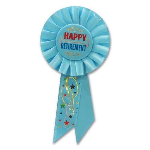 Beistle RS016 Happy Retirement Rosette, 31/4 by 61/2-Inch