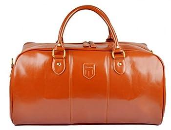 Kenox Men's Pu Leather Travel Bag Duffel For Men