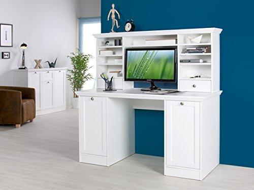 Schreibtisch-mit-Aufsatz-Brotisch-Computertisch-Arbeitstisch-wei-Landsted-II