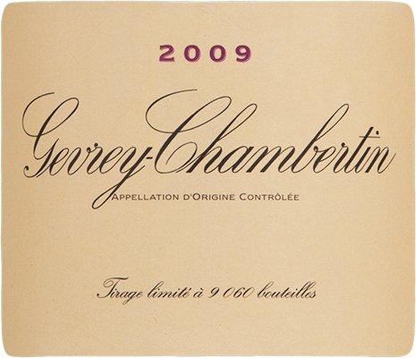 2009 Domaine De La Vougeraie Gevrey Chambertin Burgundy 750 Ml