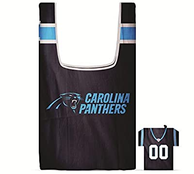 NFL Carolina Panthers Eco Friendly Reusable Grocery Bag with Jersey Style Storage Pouch