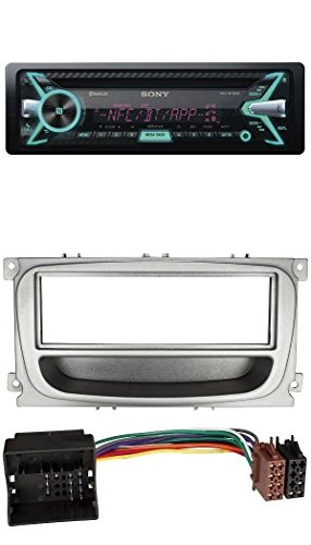 Sony-CD-MP3-USB-Bluetooth-Autoradio-fr-Ford-Focus-Mondeo-S-Max-ab-2007-silber