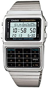 Casio Men's DBC611-1 Silver Stainless-Steel Quartz Watch with Digital Dial