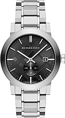 buy Burberry Dark Grey Dial Stainless Steel Mens Watch Bu9901