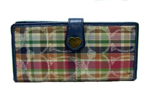 Coach   Coach Daisy Madras Skinny Credit Card Wallet