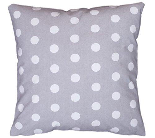 Cuscino decorativo federa cuscino 40Cm X 40cm a pois grigio