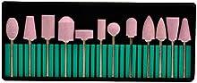 CkeyiN ® 12pcs / Kit Profesional Taladro del clavo de Cerámica Pulido para Manicura y Pedicura Los Accesorios del Arte del Clavo