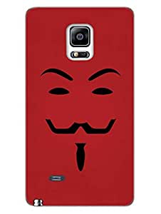 The Mask Man Silhouette - Vendetta - Designer Printed Hard Back Shell Case Cover for Samsung Note 4 Edge Superior Matte Finish Samsung Note 4 Edge Cover Case