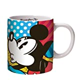 Enesco Disney by Britto Mickey and Minnie Love Mug, 4.25-Inch