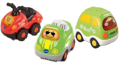 VTech 80-207334 – Tut Tut Baby Flitzer, Set 7 – Quad, Cabrio und Bus als Weihnachtsgeschenk