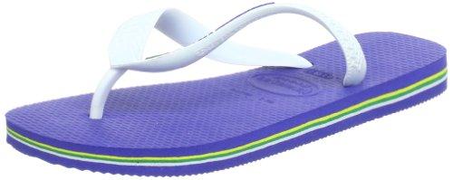 Havaianas Brasil Logo, Infradito Unisex-bambino, Blu (Marine Blue), 33/34 EU (31/32 BR)
