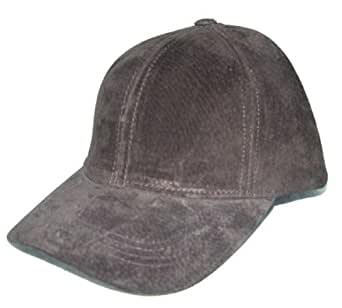 suede leather baseball cap hat one size fit made in usa