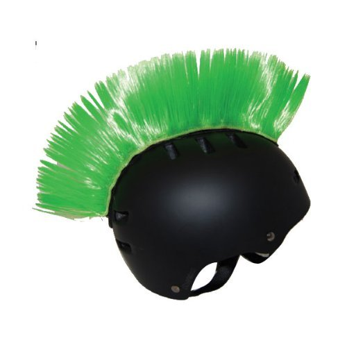 PC Racing Helmet Mohawk , Color: Green PCHMGREEN