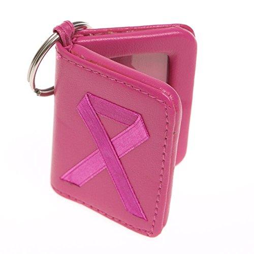 Pink Ribbon Photo Keychain - 1