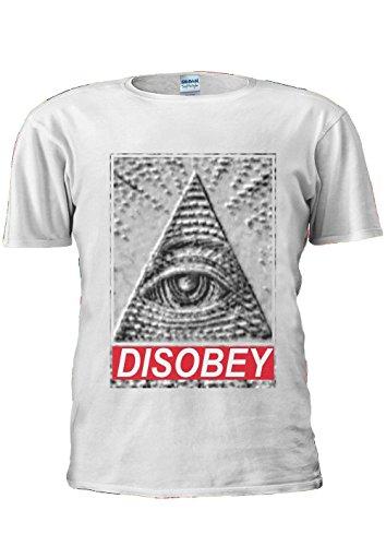 Illuminati-Eye-Mason-Pyramid-DISOBEY-Funny-Fashion-Unisex-T-Shirt-Top-Men-Women-Ladies