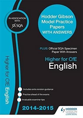 SQA Specimen Paper 2014 Higher for CfE English & Hodder Gibson Model Papers (Sqa Specimen Papers)