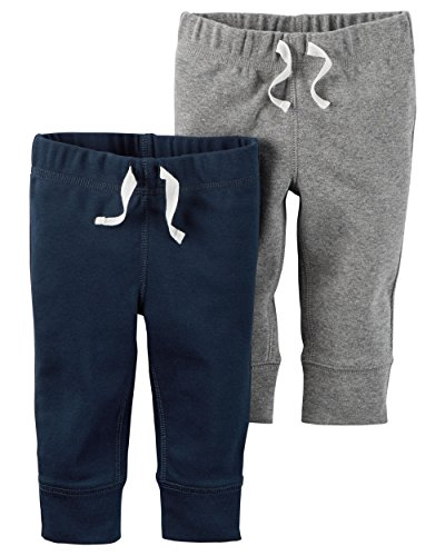 Carter's Baby Boys' 2 Pack Pants (Baby) - Smoke/Navy 24M