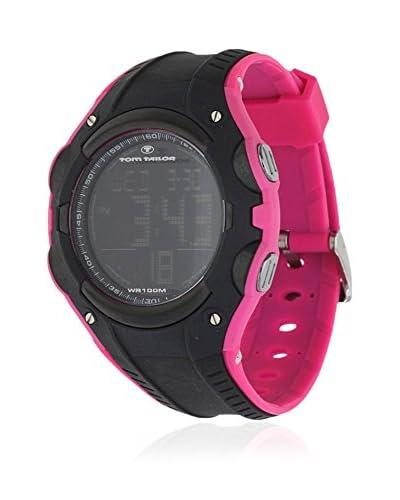 TOM TAILOR Reloj de cuarzo 5410101 Negro / Fucsia 45 mm