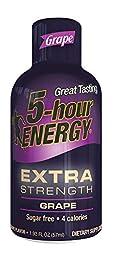 5 Hour Energy Drink Shot, Extra Strength Grape, 12 Count