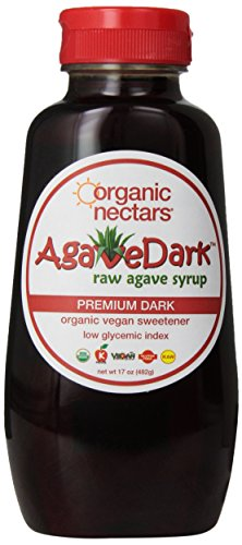 Organic Nectars Agave Syrup, Raw Premium Dark, 17-Ounce Bottles (Pack Of 3)