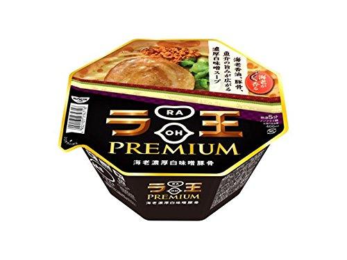 日清食品 日清ラ王PREMIUM 海老濃厚白味噌豚骨 131g×12個
