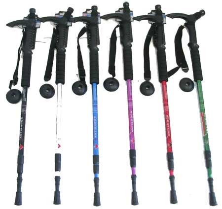 54 to 26 Inch Foldable Hiking Walking Stick Cane Light