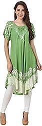 Stylishbae Women's A-Line Dress (Green)
