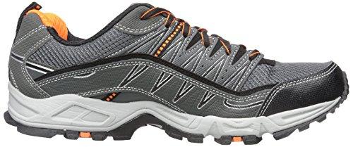 Fila Men's AT Peake Trail Running Shoe, Castle Rock/Black/Vibrant Orange, 9.5 M US