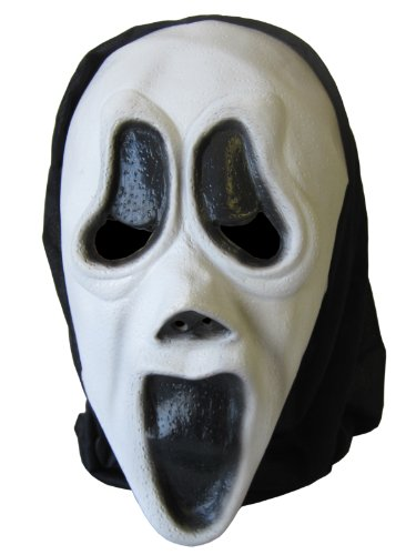 Cheadle Royal Halloween Screaming Latex Mask with Hood