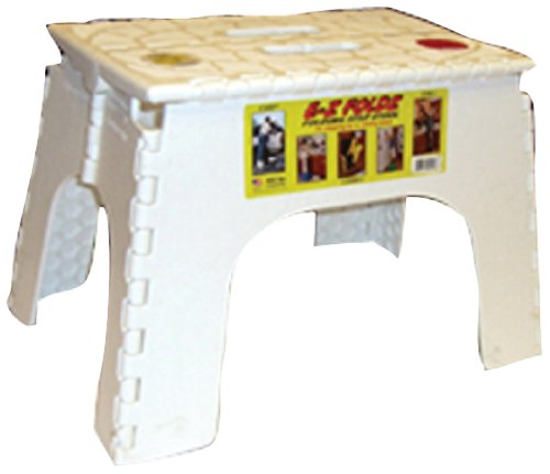 B R Plastics 104 6wh White 12 Ez Foldz Step Stool Alice