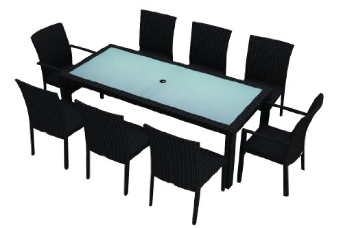 Harmonia Living Urbana 8 Seat Patio Dining Set without cushions (SKU HL-URBN-9DN-NC) image