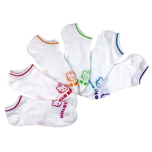 Hello-Kitty-Womens-Hello-Kitty-6-Pack-No-Shows-Socks